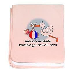 CafePress - Stork Baby France Canada - Baby Blanket, Super S
