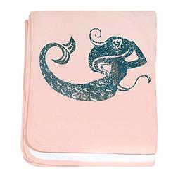 CafePress - Worn Mermaid Graphic - Baby Blanket, Super Soft