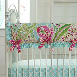 Carousel Designs Kumari Garden Crib Rail Cover