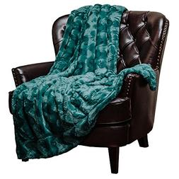 Chanasya Fur Throw Blanket for Bed Couch Chair Daybed - Soft