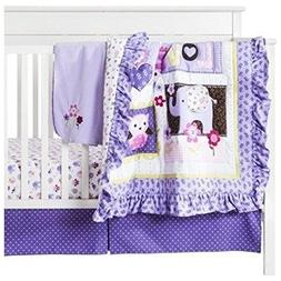 Circo Love N' Lilacs 4pc Baby Girl Crib Bedding Set