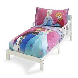 Crown Crafts 4 Piece Disney Frozen Toddler Bedding Set, Sist