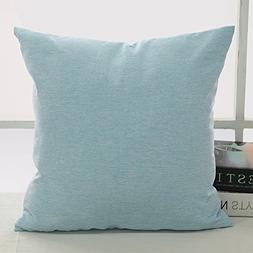 Deconovo Cushion Case Soft Pillow Cover Faux Linen Pillow Ca