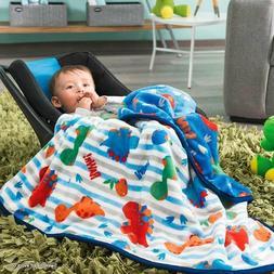 Dino Dinosaur Blanket Comforter FLEECE Throw Soft Gift Baby
