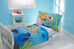 Disney 4 Piece Toddler Bedding Set, Nemo and Friends