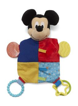 Disney Baby Mickey Mouse Plush Teether Blanket, 12""
