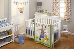Disney Dumbo 3 Piece Crib Bedding Set, Green/Blue