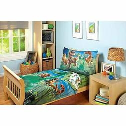 Disney Good Dino Arlo & Friends 4 Piece Toddler Bed Set, Blu