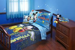 Disney Mickey Mouse Space Adventures 4 Piece Toddler Set, Bl