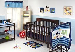 Disney My Friend Mickey 4 Piece Crib Bedding Set