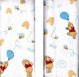 Disney Winnie The Pooh Receiving Blankets. Two Pack of Varie