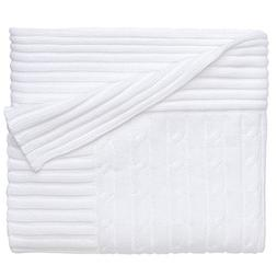 Elegant Baby Premium 100% Cotton Knit Blanket, Classic Cable