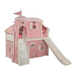 Emma Storage Princess Tent Loft with Stairs and Slide