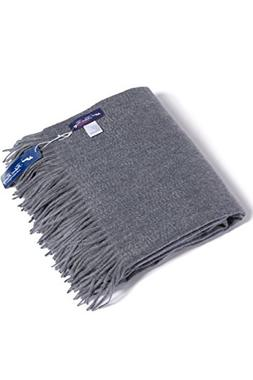Fishers Finery - Fringe Throw Blanket - 100% Pure Cashmere -