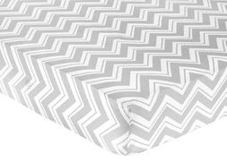 Sweet Jojo Designs Fitted Crib Sheet for Turquoise and Gray