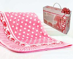 Fleece Baby Blankets for Girls - Super Soft and Cozy - Anti-
