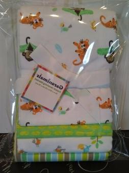Garanimals 4-Pack Receiving Blankets, Green 073654350814