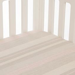 Glenna Jean Florence Stripe Fitted Sheet, Grey/Cream/Pink