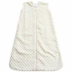 HALO SleepSack Wearable Blanket, Velboa, Cream Plush Dots, L