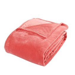 HYSEAS Coral Fleece Twin Size Plush Bed Blanket