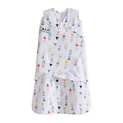 Halo SleepSack Swaddle, 100% Cotton, Triangle Neutral, Multi