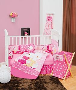 Hello Kitty Caramelo 5 Piece Crib Bedding Set