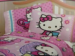 Hello Kitty High Tea Scented Sheet Set- 3 Piece Twin