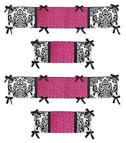 Sweet Jojo Designs Hot Pink, Black and White Isabella Collec