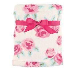 "Hudson Baby Super Plush Blanket, Pink Roses, 30"" x 40"""
