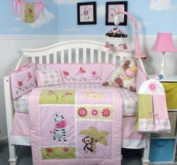 Jelly Bean Jungle Baby Crib Nursery Bedding Set 15 pcs inclu