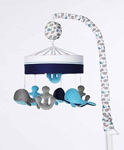Just Born High Seas Musical Mobile, Whales Blue and Grey Anc