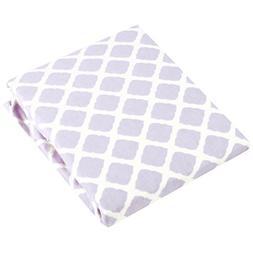 Kushies Baby Fitted Crib Sheet, Lilac Lattice