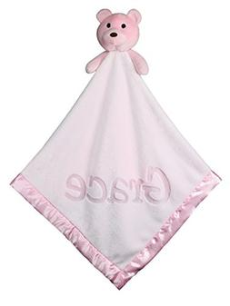 Large Ultra Plush Personalized Teddy Bear Baby Blanket Gifts
