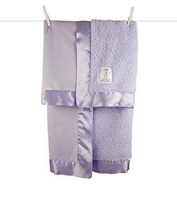 Little Giraffe Bella Velvet Baby Blanket, Lavender