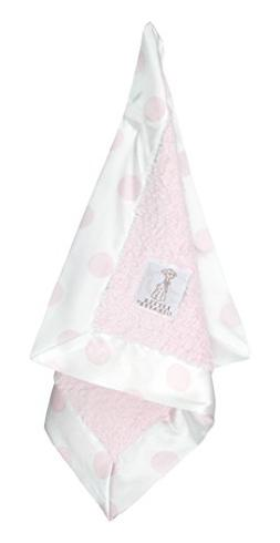 Little Giraffe Chenille New Dot Blanky, Pink