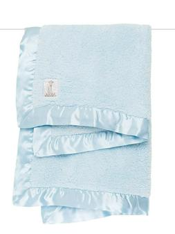 """Little Giraffe Chenille Stroller Baby Blanket, Blue, 29"""" x 3"""