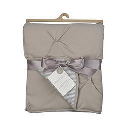 Living Textiles Jersey Pintuck Comforter -Grey - Classic, El