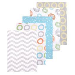 Luvable Friends Flannel Receiving Blankets, Yellow Pinwheel,