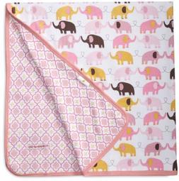 Magnificent Baby Baby-Girls Newborn Reversible Blanket, Elep