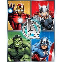 """Marvel Avengers Assemble Plush Bed Throw Blanket - 46"""" x 60"""""""