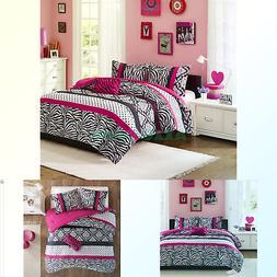 Mi-Zone Mizone Reagan Comforter Set - Pink - Full/Queen