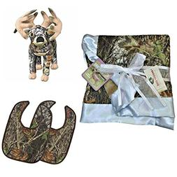Mossy Oak Premium Camouflage Baby Boy Boxed Set - Blanket, B