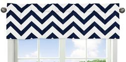 Sweet Jojo Designs Navy Blue and White Chevron Collection Zi