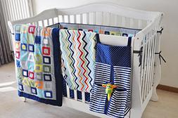 New 10 pcs Baby Boy Crib Bedding Set