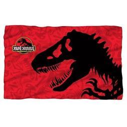 New 58x36 Jurassic Park Fleece Throw Gift Blanket Dinosaur M