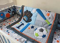 Na baby blanket new 6 pieces baby boy sport crib bedding set gumiabroncs Choice Image