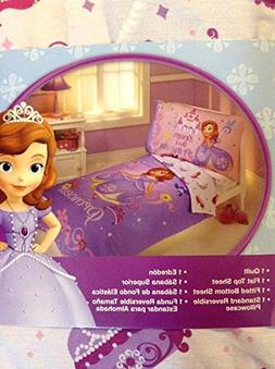 New!! Girls Disney Princess Sofia the First 4pc Toddler Bed