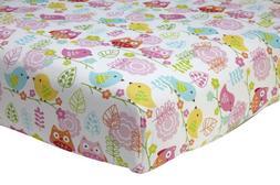 Nojo Love Birds 100% Cotton Crib Sheet