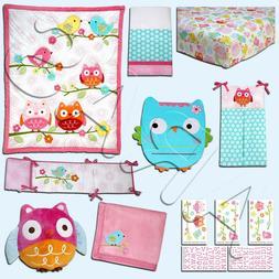 Nojo Love Birds 4 Piece Comforter Set with Diaper Stacker
