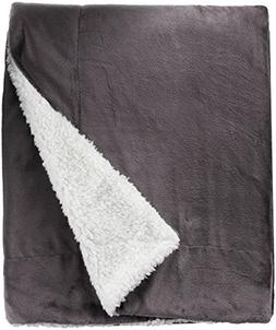 Northpoint Cashmere Velvet Reverse to Cloud Sherpa Throw, Ch